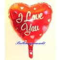 Luftballon I Love you mit Herzen, inklusive Ballongas-Helium