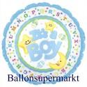 It´s a Boy, Luftballon aus Folie, Es ist ein Junge, Jumbo-Folienballon mit Helium