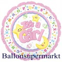 It´s a Girl, Luftballon aus Folie, Es ist ein Mädchen, Jumbo-Folienballon