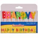 Happy Birthday Geburtstagskerzen, 13 Stück
