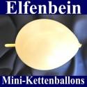Mini-Kettenballons-Girlandenballons-Elfenbein-Metallic, 10 Stück