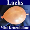 Mini-Kettenballons-Girlandenballons-Lachs-Metallic, 10 Stück