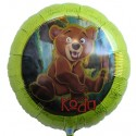 Bär Koda Luftballon, Folienballon mit Ballongas, Bärenbrüder
