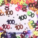 Konfetti Tischdeko zum 100. Geburtstag