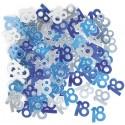 Konfetti, Streudeko zum 18. Geburtstag, blau