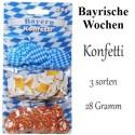Konffetti Bayern, Bayrische Wochen Tischdekoration, 3 Sorten, 28 Gramm