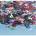 Konfetti Tischdekoration Buchstaben