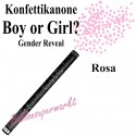 Konfettikanone Boy or Girl, Gender Reveal Partydekoration, rosa