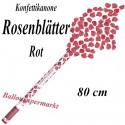 Rosenblätter Regen, Rosenblätter-Kanone, Rot