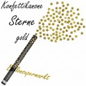 Konfettikanone, Sternenregen, Gold, 60 cm