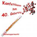 Konfettikanone zum 40. Geburtstag, Verkehrsschilder