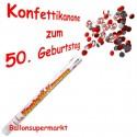 Konfettikanone zum 50. Geburtstag, Verkehrsschilder