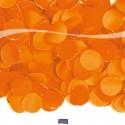 Konfetti zu Karneval und Halloween, orange, Streukonfetti, 100 Gramm