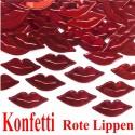 Konfetti Tisch- und Streudekoration Lippen in Rot