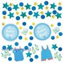 3 Sorten Konfetti Tisch- und Streudekoration zur Babyparty, Shower with Love Boy