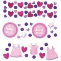 3 Sorten Konfetti Tisch- und Streudekoration zur Babyparty, Shower with Love Girl