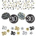Sparkling Celebration 30 Konfetti, 3 Sorten Streudekoration, Partydekoration zum 30. Geburtstag