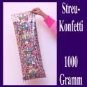 Konfetti zu Karneval und Fasching, Streukonfetti, 1000 Gramm
