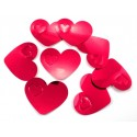 Konfetti XL Tisch- und Streudekoration Herzen in Rot