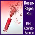 Konfettikanone Rote Rosenblätter, Mini