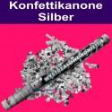 Konfettikanone Silber