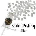 Konfetti Push Pop, Silber