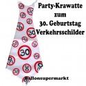 Riesen-Krawatte Verkehrsschild 30  zum 30. Geburtstag