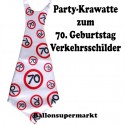 Riesen-Krawatte Verkehrsschild 70  zum 70. Geburtstag