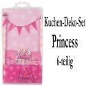 Kuchen Dekorations Set Princess, 6-teilig