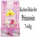 Kuchen Dekorations Set Prinzessin, 6-teilig