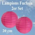 Lampions Fuchsia, 20 cm, 2 Stück