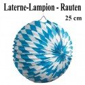 Laterne-Lampion Rauten, 25 cm, Oktoberfest-Dekoration