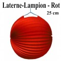 Laterne-Lampion Rot, 25 cm