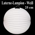 Laterne-Lampion Weiß, 25 cm
