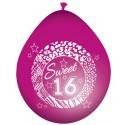 Luftballons zum 16. Geburtstag, 8 Stück