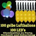 LED-Luftballons, Gelb, 100 Stück
