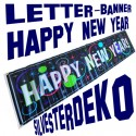 Silvester Dekoration, Letterbanner, Happy New Year