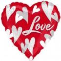 Love, Herzballon aus Folie inklusive Helium