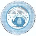 Baby Shower Luftballon Blau mit Helium