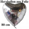 Herz Jumbo silber (ungefüllt)