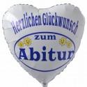 Herzlichen Glückwunsch zum Abitur, Luftballon mit Helium-Ballongas, Ballongrüße