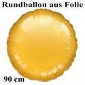 Rundballon Jumbo gold (ungefüllt)