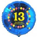 Luftballon aus Folie mit Helium, 13. Geburtstag, Balloons