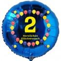 Luftballon aus Folie mit Helium, 2. Geburtstag, Balloons