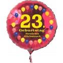 Luftballon aus Folie mit Helium, 23. Geburtstag, Balloons