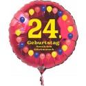 Luftballon aus Folie mit Helium, 24. Geburtstag, Balloons