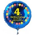 Luftballon aus Folie mit Helium, 4. Geburtstag, Balloons