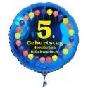 Luftballon aus Folie mit Helium, 5. Geburtstag, Balloons