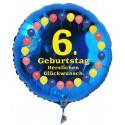 Luftballon aus Folie mit Helium, 6. Geburtstag, Balloons