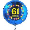 Luftballon aus Folie mit Helium, 61. Geburtstag, Balloons